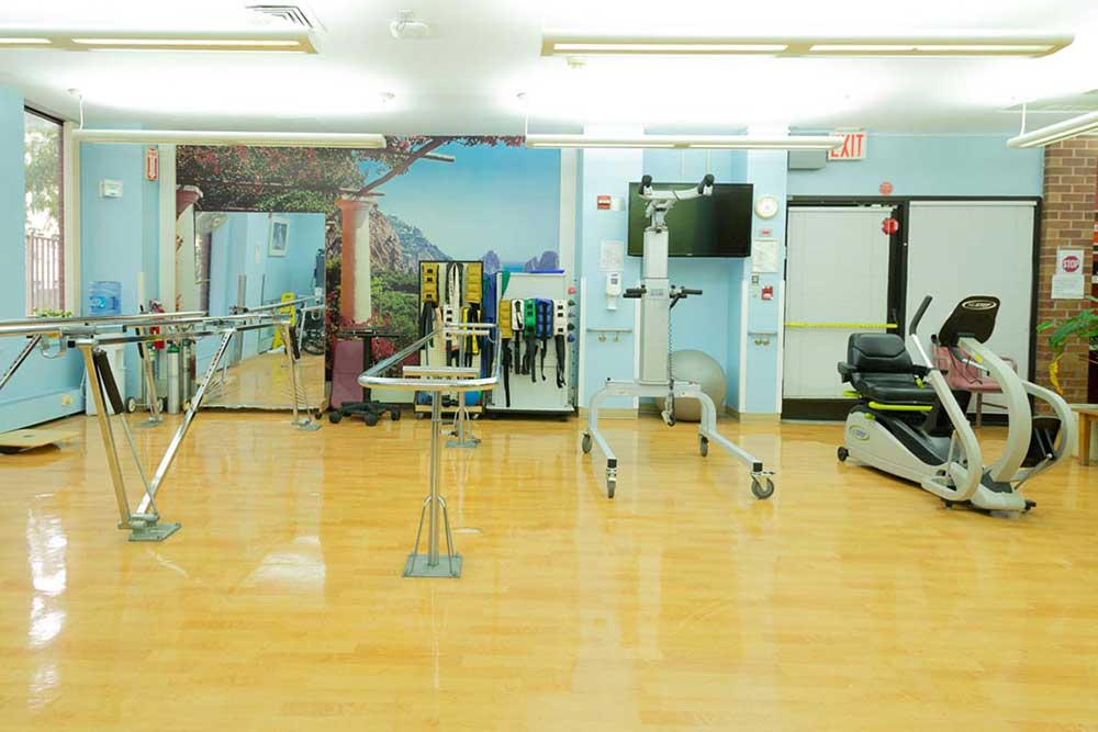 Exercise and physical therapy equipment for patients.